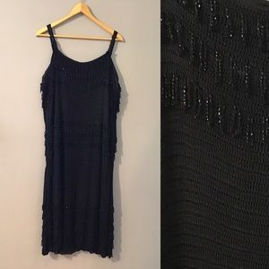 Vintage Beaded Knitted Gatsby Flapper Dress